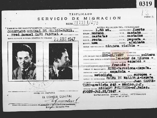 ...más tarde, Frederic tomará un avión hacia México, allí le esperaba Juan Carrertero Capó, un primo hermano por pa… https://t.co/iXcHFCcO16