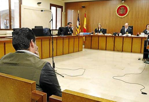 Marcos Benabad, durante un juicio en la Audiencia.