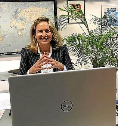 Carmen Sampol en su intervención en la XIII Jornada Cátedra Banca March que tuvo lugar por videoconferencia.