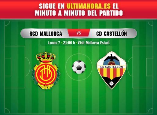 El Real Mallorca cierra este lunes la 17ª jornada recibiendo en Son Moix al Castellón.