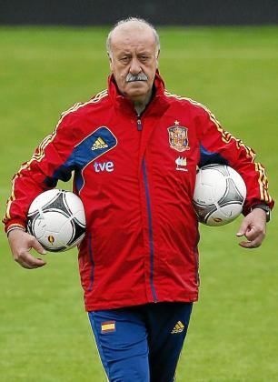 Imagen del seleccionador español, Vicente del Bosque.