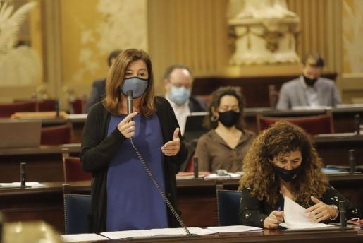 Francina Armengol, en una imagen de archivo en el Parlament.