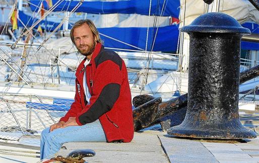 El navegante Javier Sansó, en una imagen retorpectiva tras regresar de su primera Vendée Globe, en el Real Club Náutico de Palma.