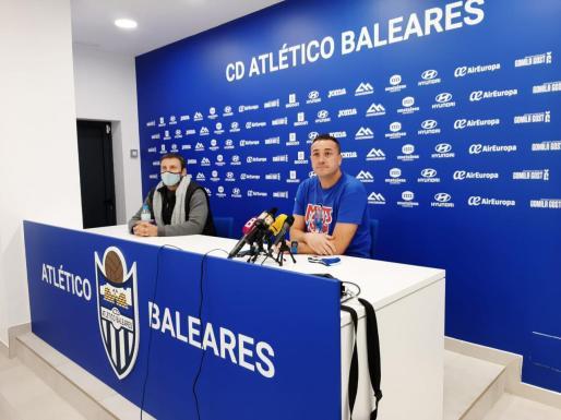 Jordi Roger, en una imagen captada durante la rueda de prensa ofrecida en el Estadi Balear previa al encuentro ante el Poblense.