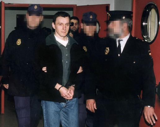 Imagen de archivo de Francisco Múgica Garmendia, alias Pakito, en su trasladado a la cárcel madrileña de Soto del Real.