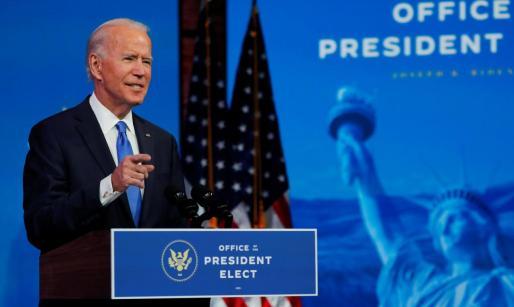 El presidente electo de los Estados Unidos Joe Biden.