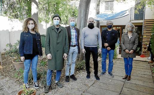 Aina Vidal, Llorenç Romera, Pere Salas, Josep de Luis, Juan Montes de Oca (Ladat) y Catalina Rosselló.