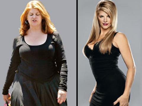 El antes y el después de la actriz Kristie Alley .