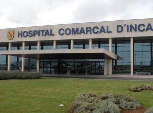 Imagen de la entrada del hospital de Inca.