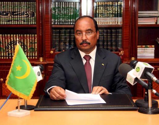 Fotografía de archivo fechada el 16 de abril de 2009 donde aparece el presidente mauritano, Mohamed Uld Abdel Aziz.