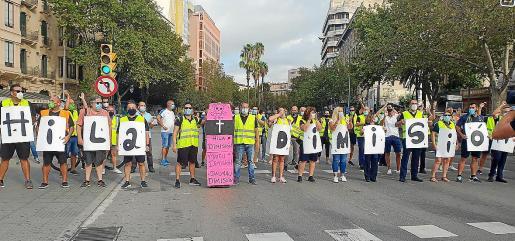 Imagen de una de las protestas realizadas por los trabajadores de la EMT el pasado mes de septiembre.
