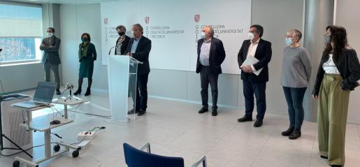 El conseller de Educación, Universidad e Investigación, Martí March, ha presentado este martes el anteproyecto de la que será la primera Ley Educación de Baleares.