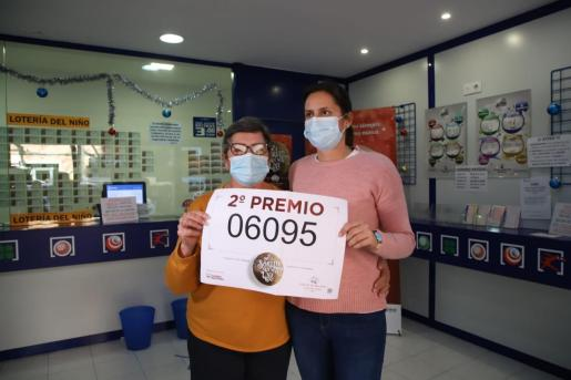 Las dos loteras de la administración de la calle Niceto Alcalá Zamora, de Palma.