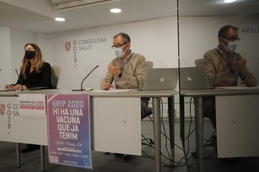 Arranz y Gómez, en rueda de prensa para analizar la actual situación de la pandemia en las Islas.