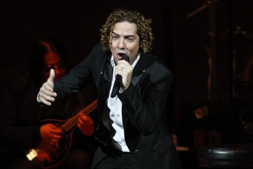 El cantante español David Bisbal, en un momento de su concierto en el Carnegie Hall de Nueva York.