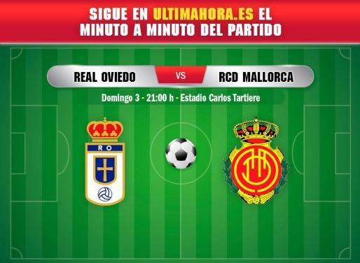 Real Oviedo y Real Mallorca se enfrentan en el Nuevo Carlos Tartiere en la penúltima jornada de la primera vuelta de la Liga SmartBank.