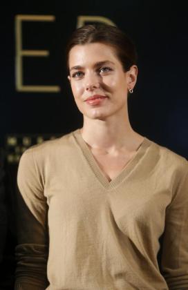 """Carlota Casiraghi hoy en Madrid durante la presentación en el Museo Thyssen de la exposición """"El arte de Cartier""""."""