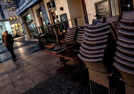 Vista del exterior de un restaurante en Berlín.