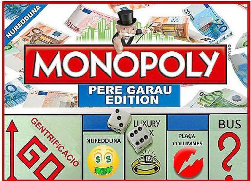 Versión del juego Monopoly: 'Pere Garau Edition'.