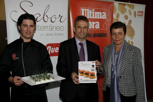 Javier Soriano, Juan Domenech y Carmen Serra.