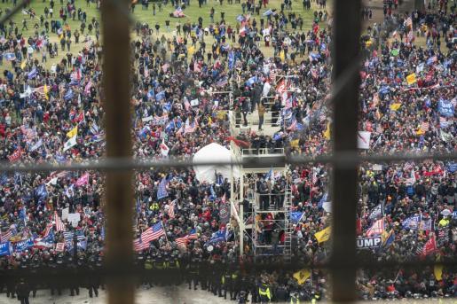 Imagen de las protestas en Washington.