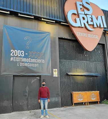 Pepe Bauzá, de Es Gremi, que se unió a la protesta virtual 'El último concierto'.