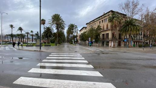 Las calles de Palma prácticamente vacías este sábado.