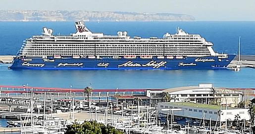 El 'Mein Schiff 6' fue el último crucero registrado en Palma, el pasado día 14 de marzo.