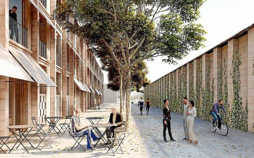 Promoción de viviendas que se empezarán a construir en breve en La Soledat.