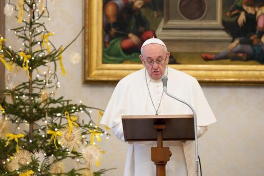 Una comparecencia del Papa Francisco.
