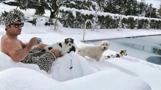 Los posados más atrevidos de los famosos en la nieve