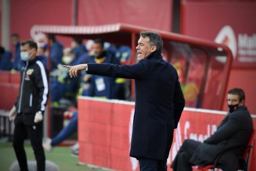 El entrenador del Mallorca durante el encuentro del pasado domingo en Palma.