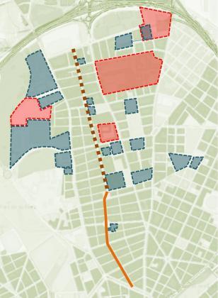 Truyol ha indicado que esta iniciativa busca imitar otros ejemplos de 'urbanismo táctico', como el caso del Espacio Galileo de Madrid o la zona Superilles de Barcelona. Imagen sobre plano de la zona afectada por la reforma.