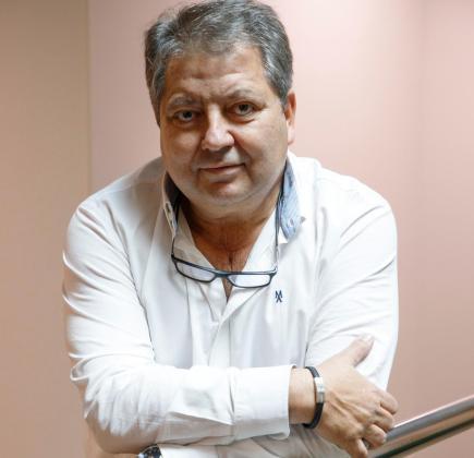 Manuel Hernández, en las oficinas de Unisport Consulting.
