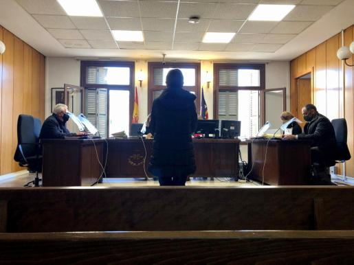 La acusada, de 70 años, en el juicio celebrado la mañana de este miércoles en Palma.