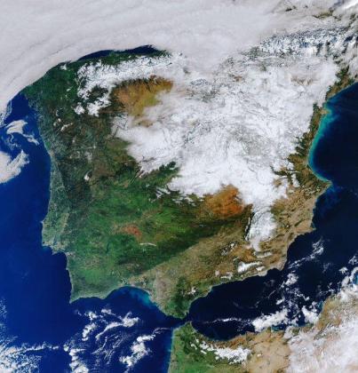 Imagen captada por el satélite Sentinel-3 del sistema Copernicus de la Agencia Espacial Europea.