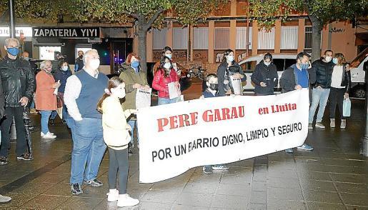 Protesta de vecinos de Pere Garau el pasado mes de diciembre.