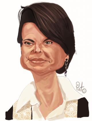 Caricatura de la presidenta de la Junta Territorial del PP de Palma.