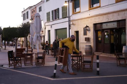 Imagen de archivo de un bar de Menorca.