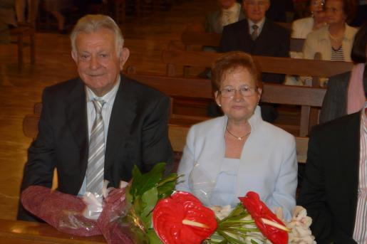 Melchor Mascaró junto a su esposa Antonia Martorell.