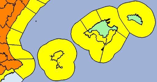 21/01 00:06 #AEMET actualiza #FMA en Baleares. Activos MAÑANA. Nivel máx amarillo. Imagen del mapa de avisos en vig… https://t.co/0C487UkpYb