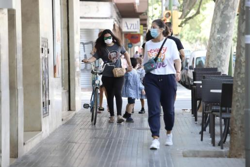 La incidencia acumulada en Palma baja en la última semana.