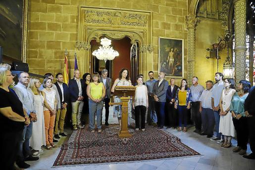 Imagen de julio de 2019 del equipo de gobierno en el Consell que preside Catalina Cladera.