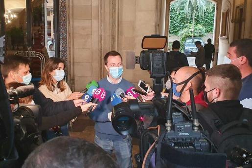 Llorenç Galmés, durante una comparecencia.