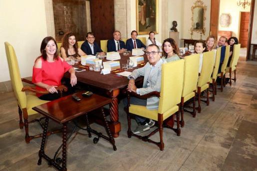 Imagen de archivo de una reunión del Consell de Govern antes de la pandemia.