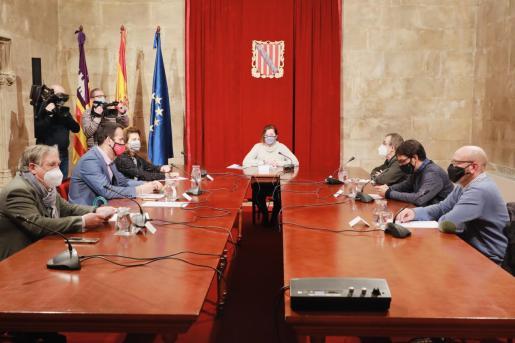 Reunión de la mesa de diálogo social.