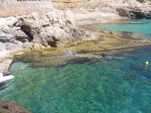 Cala Llamp, un bonito rincón de la costa mallorquina.