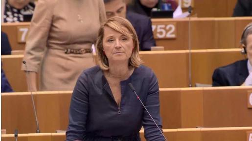 La eurodiputada Rosa Estaràs, en el Parlamento Europeo.