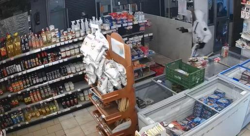 Imagen de la cámara de seguridad del supermercado.