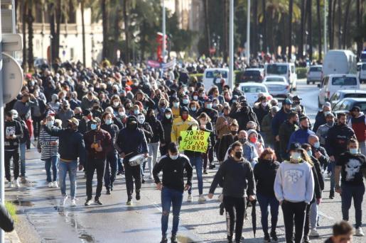 La Delegación del Gobierno en Baleares sancionará al menos a 16 personas por su participación en la manifestación motorizada.